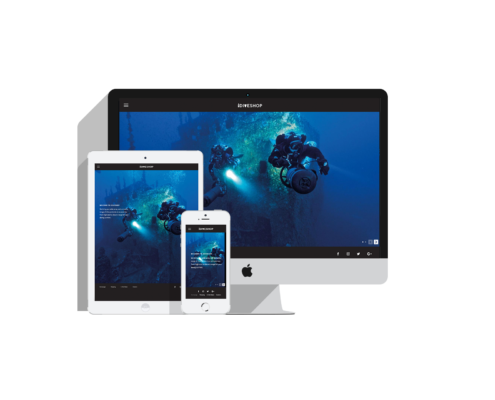 Dive Shop, Web Design Bali