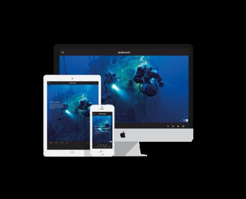 Dive Shop, Web Design Bali